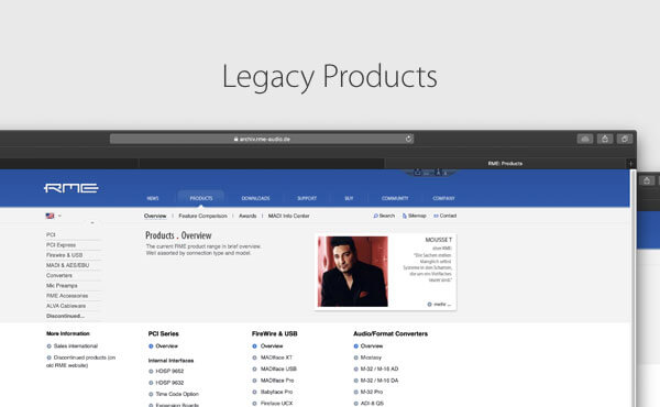 Legacy products Downloads and Information